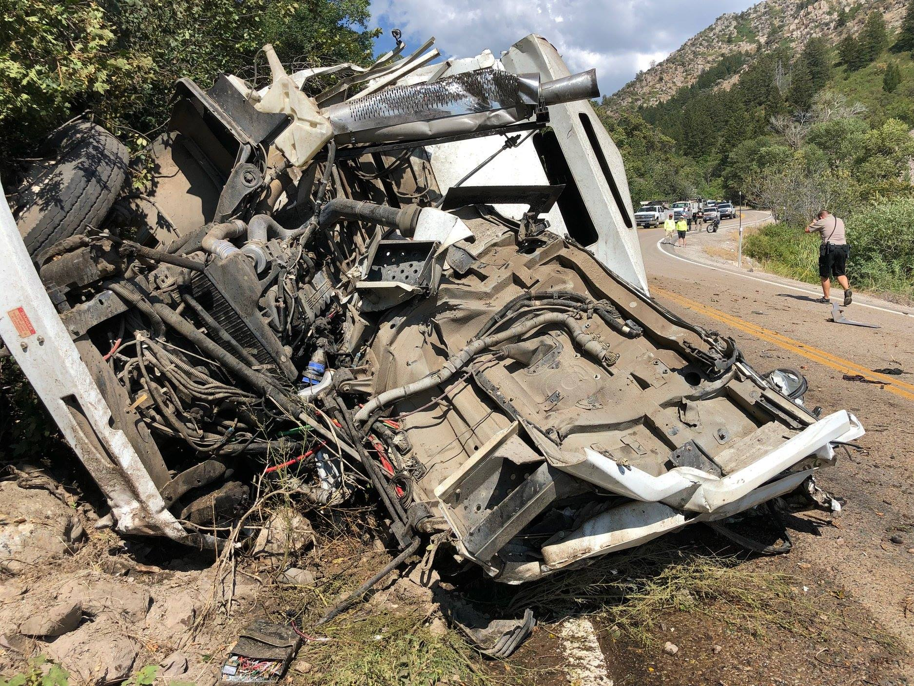 A man died in an accident involving a street sweeper in Weber County Thursday evening. (Photo: Weber Fire District)