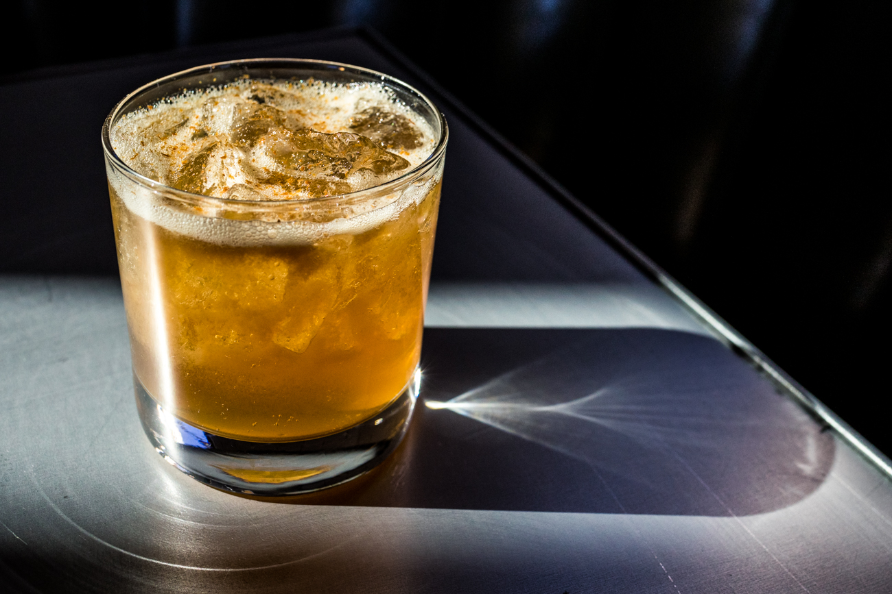 Angel 35: Old Forester bourbon, local apple cider, allspice dram, maple syrup, lemon juice, and cinnamon / Image: Catherine Viox // Published: 11.7.20