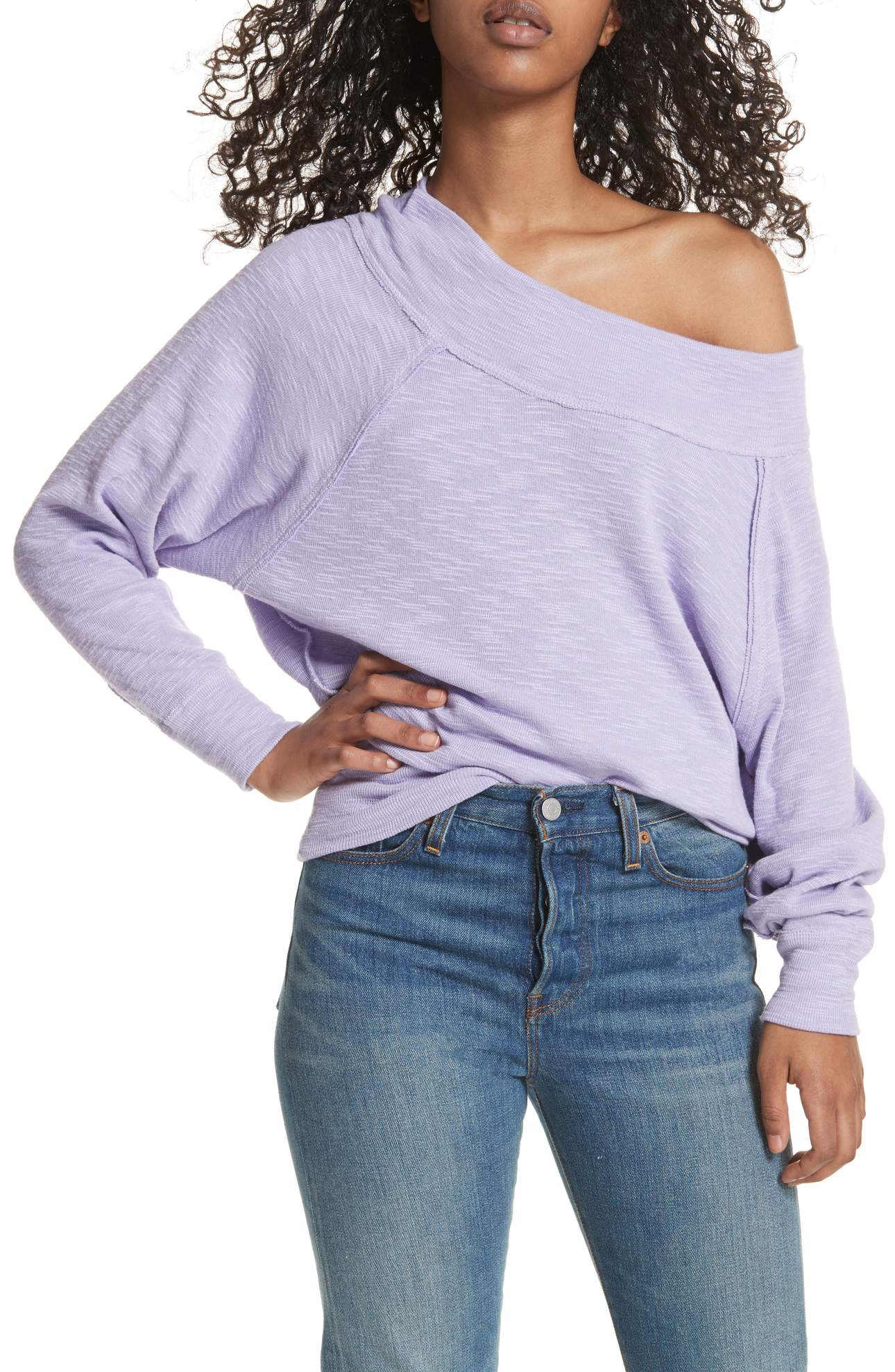 The Palisades Off the Shoulder was $68 and is now $45.56. Slouchy dolman sleeves and off-the-shoulder styling make this comfy triblend top a pitch-perfect homage to '80s style.<p><br></p><p>(Image: Nordstrom)</p>