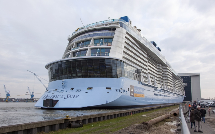 It's the first-ever Alaska season for Ovation of the Seas - a Royal Caribbean cruise ship that's the largest to ever be homeported on the West Coast! The ship is 136 feet wide, 1,138 feet long, and cruises at a speed of 22 knots. With 18 decks, 16 guest elevators, 20+ dining options, iFly Indoor Skydiving, a robot-operated Bionic Bar, Music Hall, Bumper Cars, and a mini shopping mall - you've likely never been on a ship quite like this one. Taking off once again for a 7-Night Alaska Glacier Cruise on June 14, 2019 - the ship will be back throughout the summer, and again in 2020 for another Alaska season.{ } (Image: Royal Caribbean){ }
