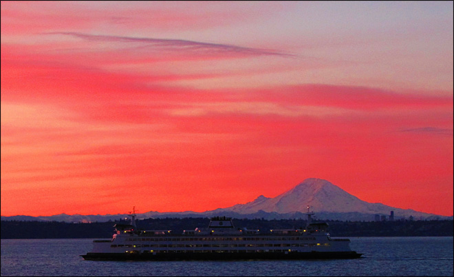 Ferry Puyallup at Sunrise. (Photo: YouNews contributor zargoman)