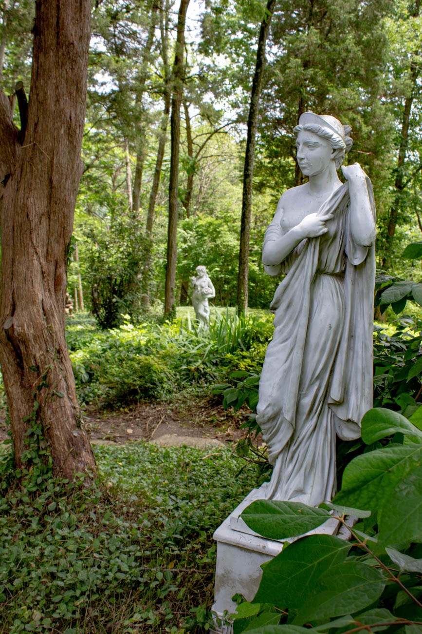 A 9.5-acre property dating back to 1922 was on the tour, featuring a fantastical pathway that led you through all kinds of statues, trees, and greenery adorning the grounds. Dr. Sugarman, the owner, has collected the sculptures from Italy, Greece, and other parts of the world. / Image: Katie Robinson, Cincinnati Refined // Published: 6.24.19