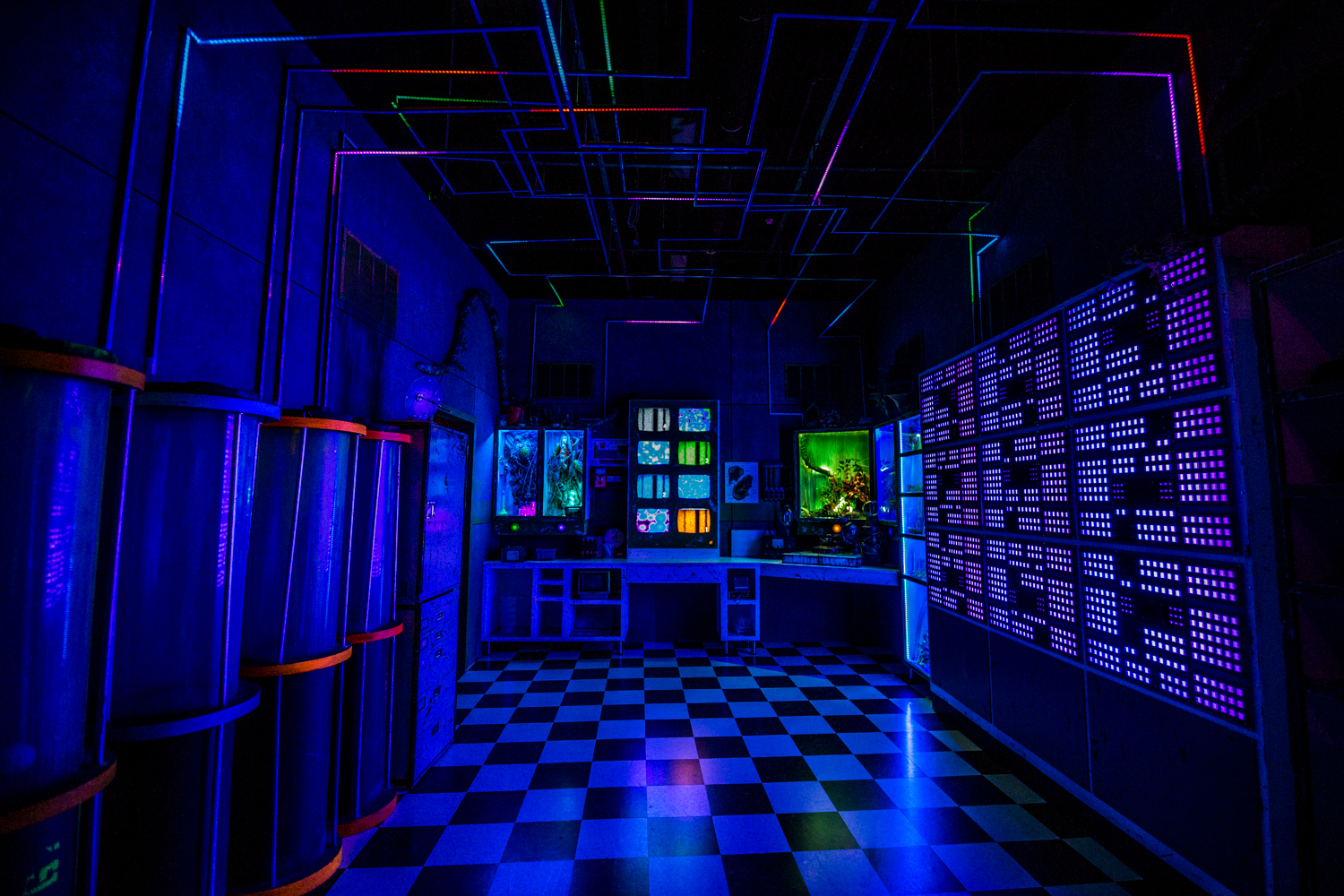 "Guests can navigate through the dreamy, iridescent rooms freely. The narrative behind the exhibit is to imagine yourself as a research participant who was invited to explore a laboratory dabbling in ""alternate realm tourism"" where you'll discover fascinating, abstract escapes the ""lab"" is working on. / Image: Catherine Viox // Published: 9.10.19"