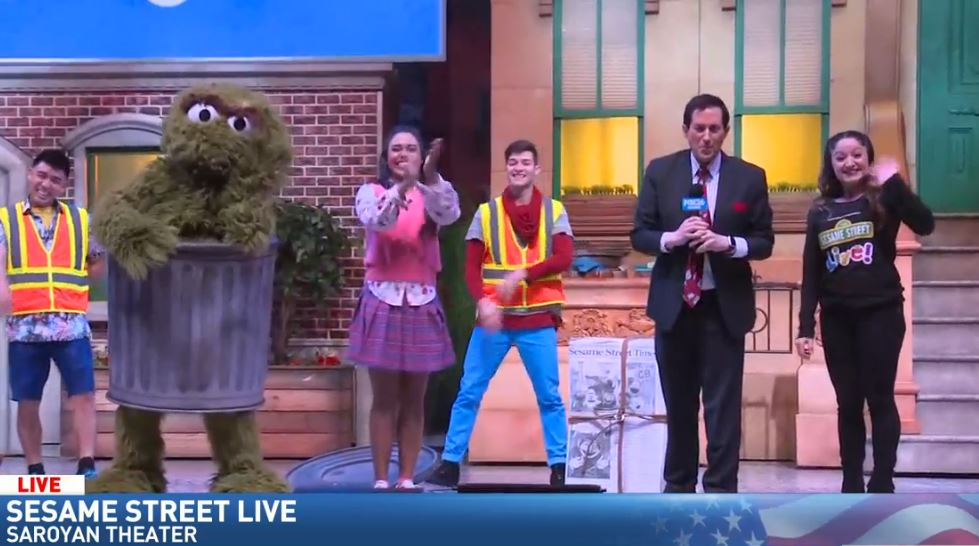Jim De La Vega spent the morning at the Saroyan Theatre hanging out with the cast of Sesame Street Live!