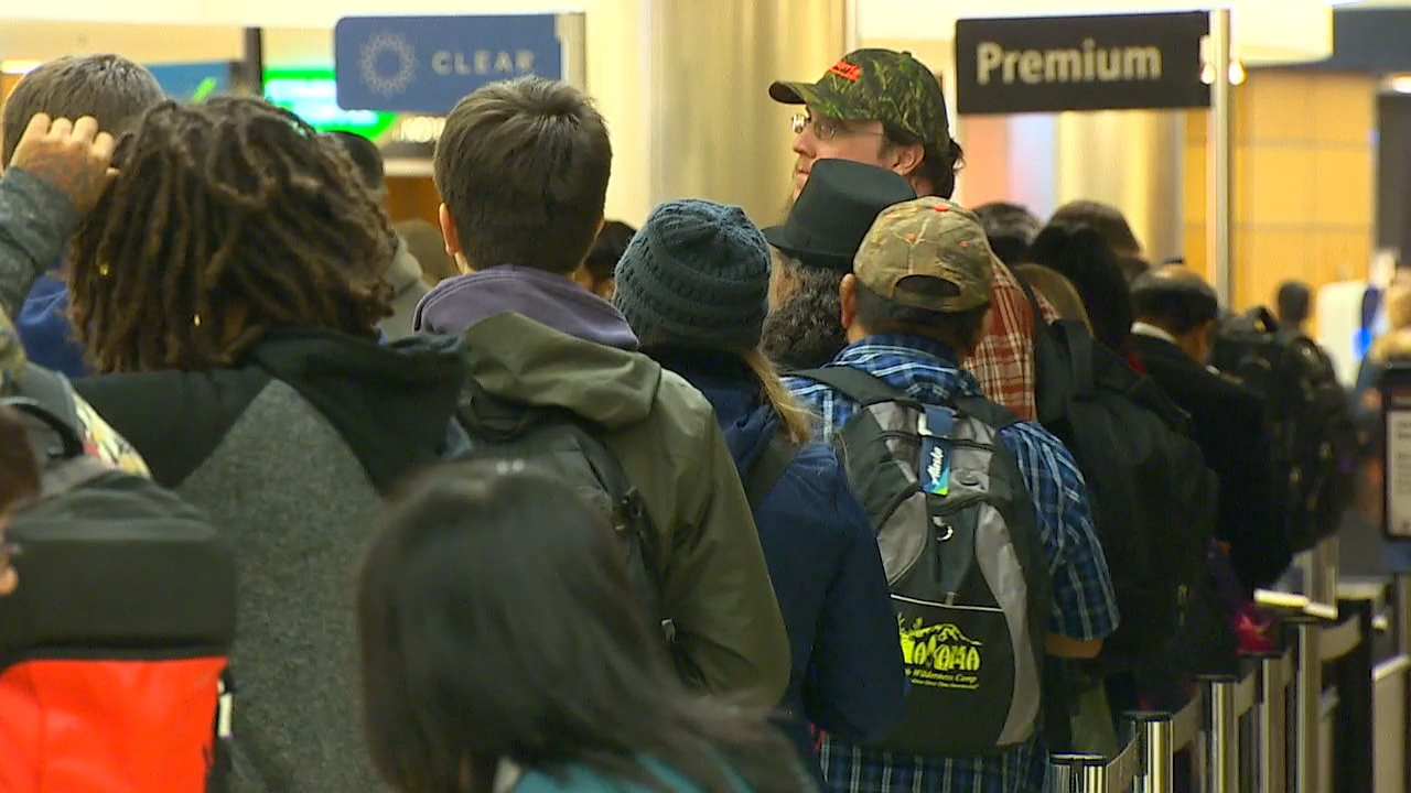 According to FlightAware, there have been over 360 flights delayed in or out of Sea-Tac Airport with delays stretching into Friday afternoon reaching over 2.5 hours. (Photo: KOMO News)<p></p>
