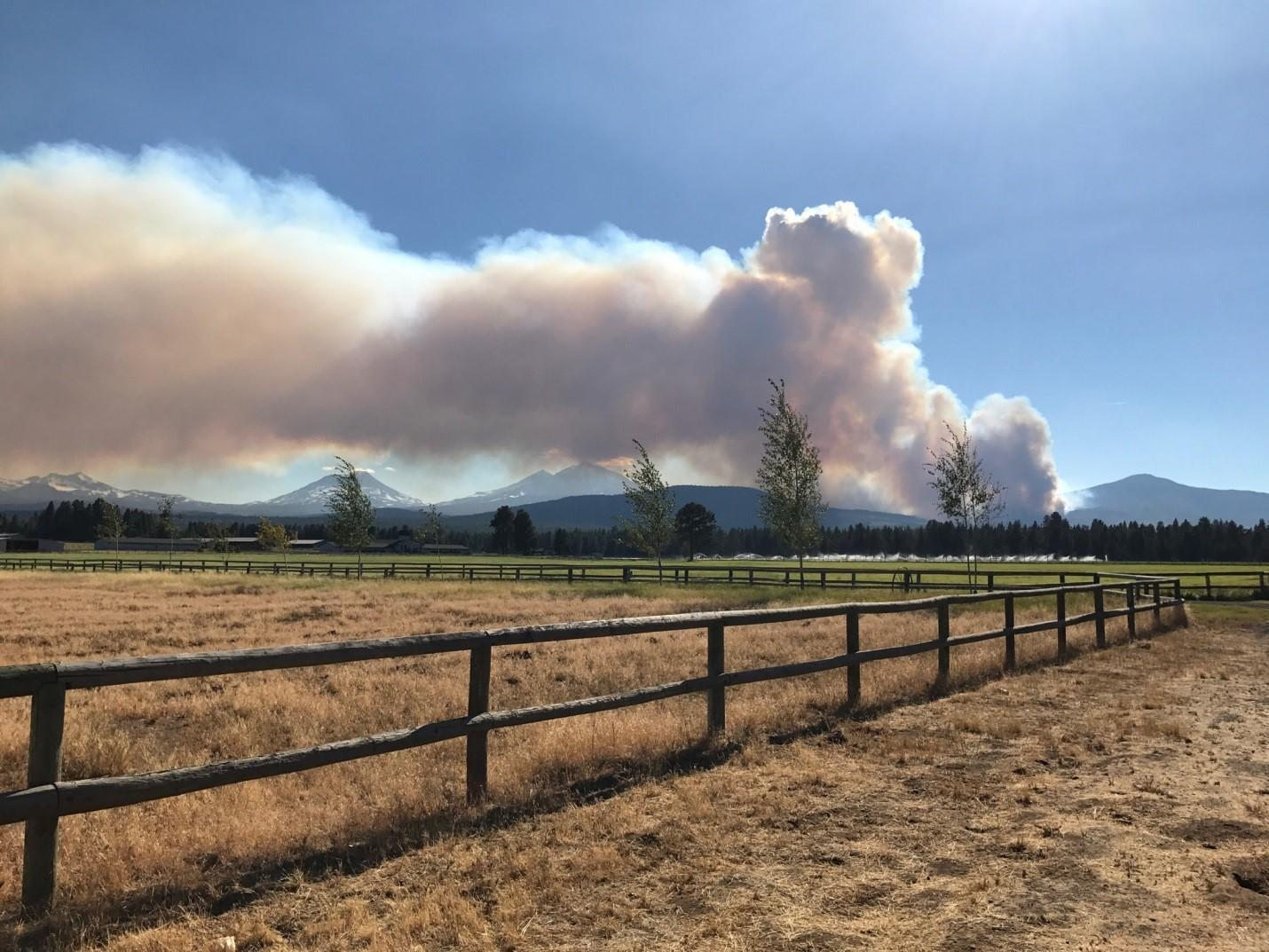 Photo of Milli Fire, August 16. (InciWeb)