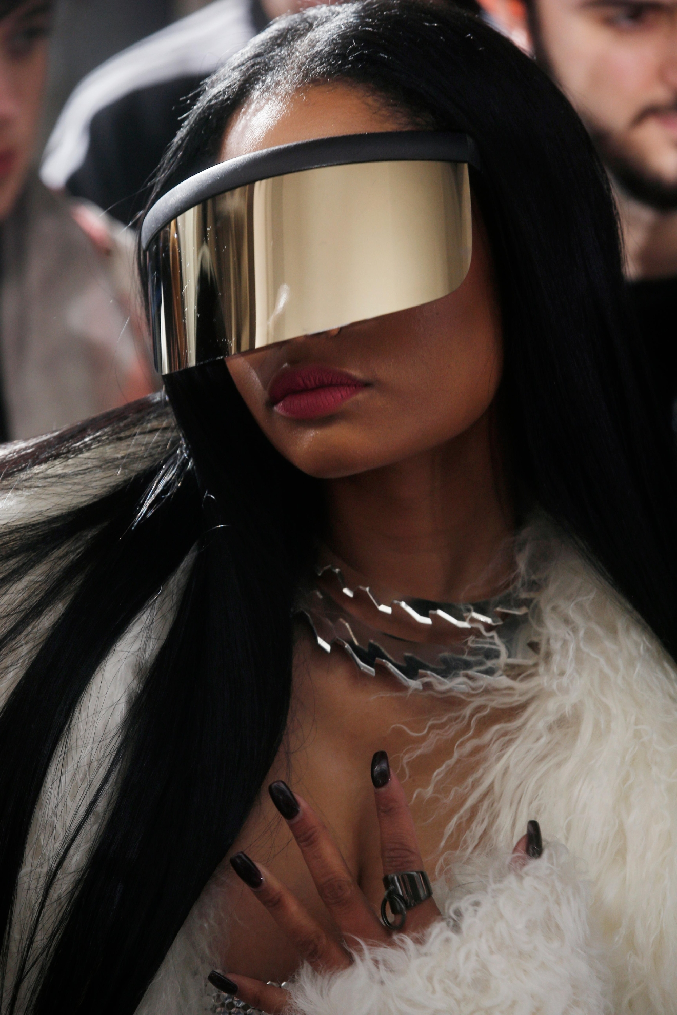 Singer Nicki Minaj attends Rick Owens' Fall-Winter 2017-2018 ready to wear fashion collection presented in Paris, Thursday, March 2, 2017. (AP Photo/Thibault Camus)