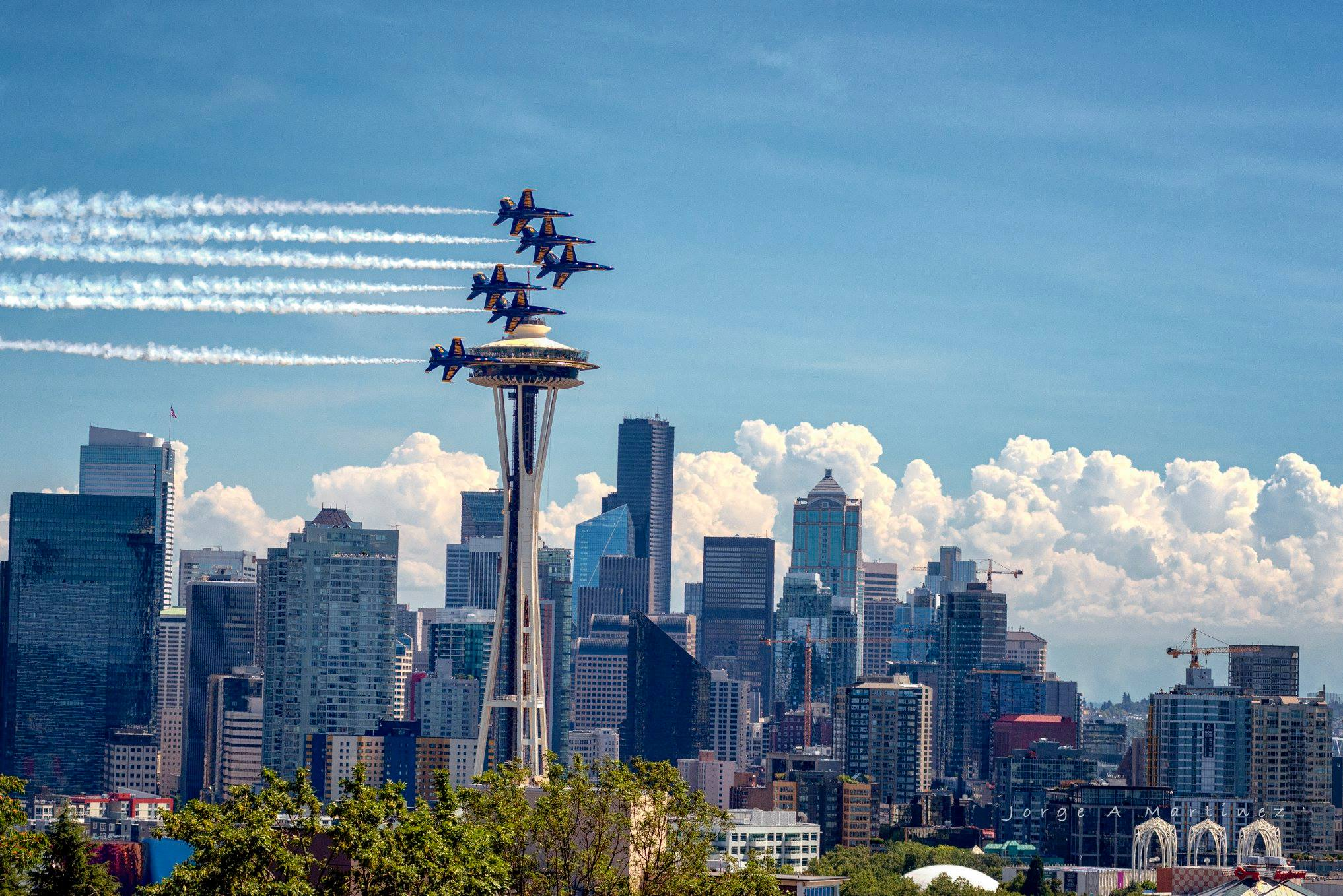 photos  blue angels put on a dazzling show over seattle