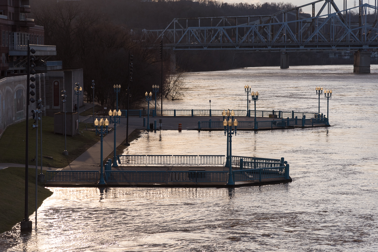Covington Landing still floats above the river's surface. / Image: Phil Armstrong, Cincinnati Refined // Published: 2.21.18<p></p>