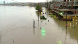 When will the floodwaters recede in Covington?