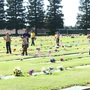 Displays of patriotism line local cemeteries