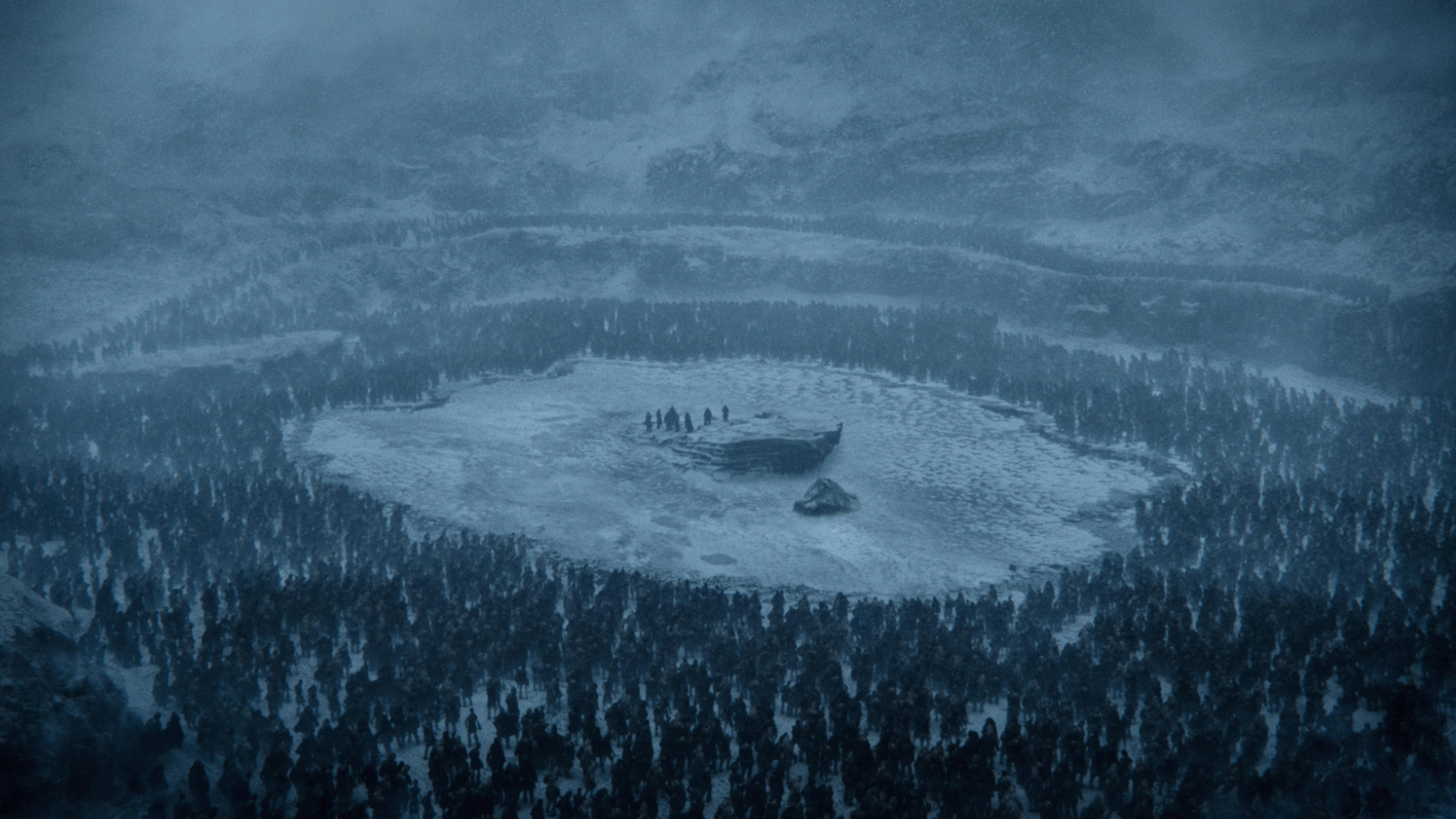 "This photo provided by HBO shows a scene from the sixth episode of the seventh season of HBO's ""Game of Thrones."" Dragons fought zombies in a thunderous battle on ""Game of Thrones"" on Sunday, Aug. 20, 2017, a showdown that provides just a hint of what likely lies ahead in the show's final season. Yet the battle also raised an economic question: Can the White Walkers' command and control economy defeat their disorganized, squabbling Westerosi opponents? (Courtesy of HBO via AP)"
