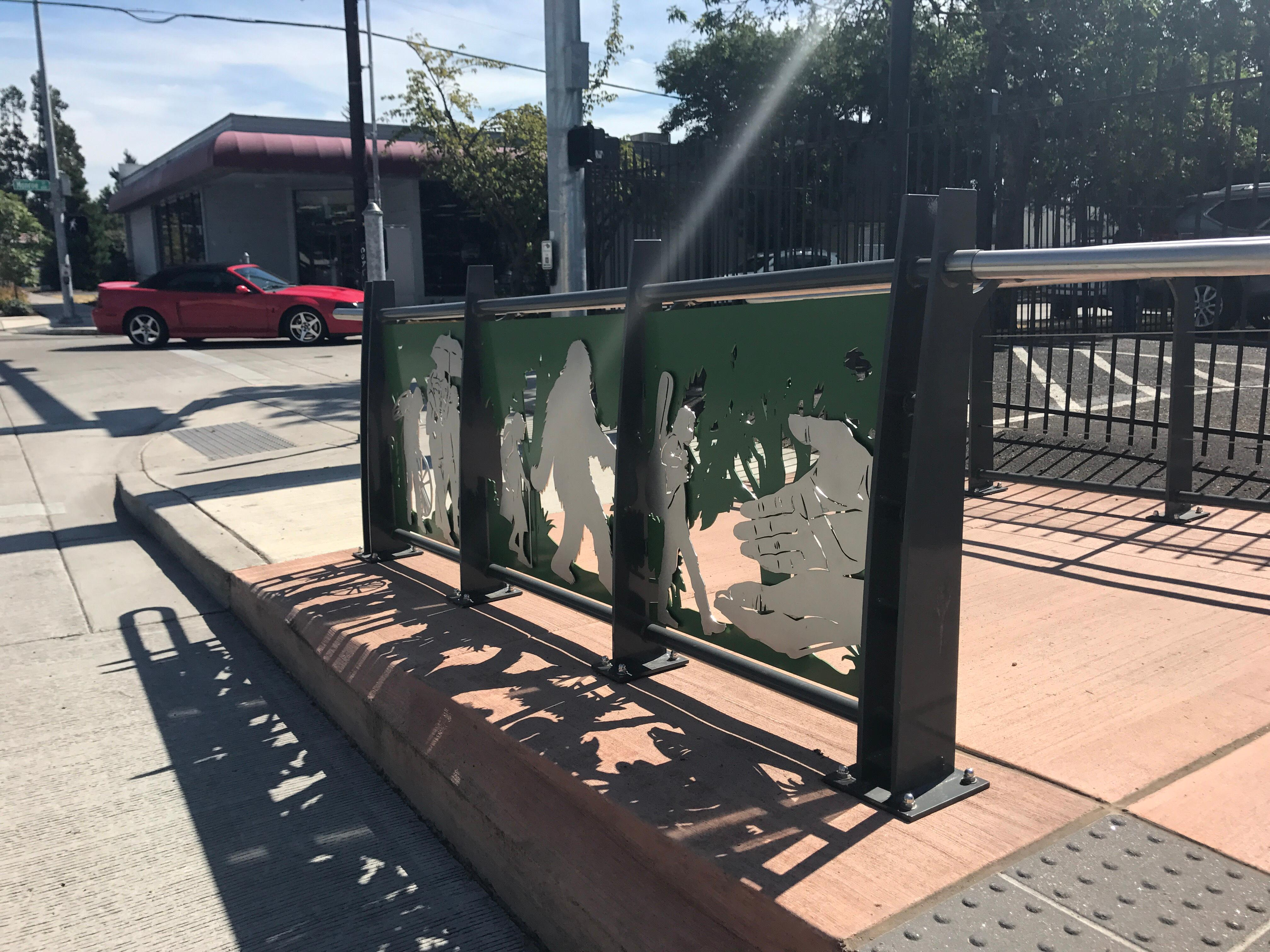 The New EmX bus stops throughout Eugene will feature art pieces from local artists.