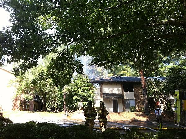 Hoover apartment fire 6-18-12