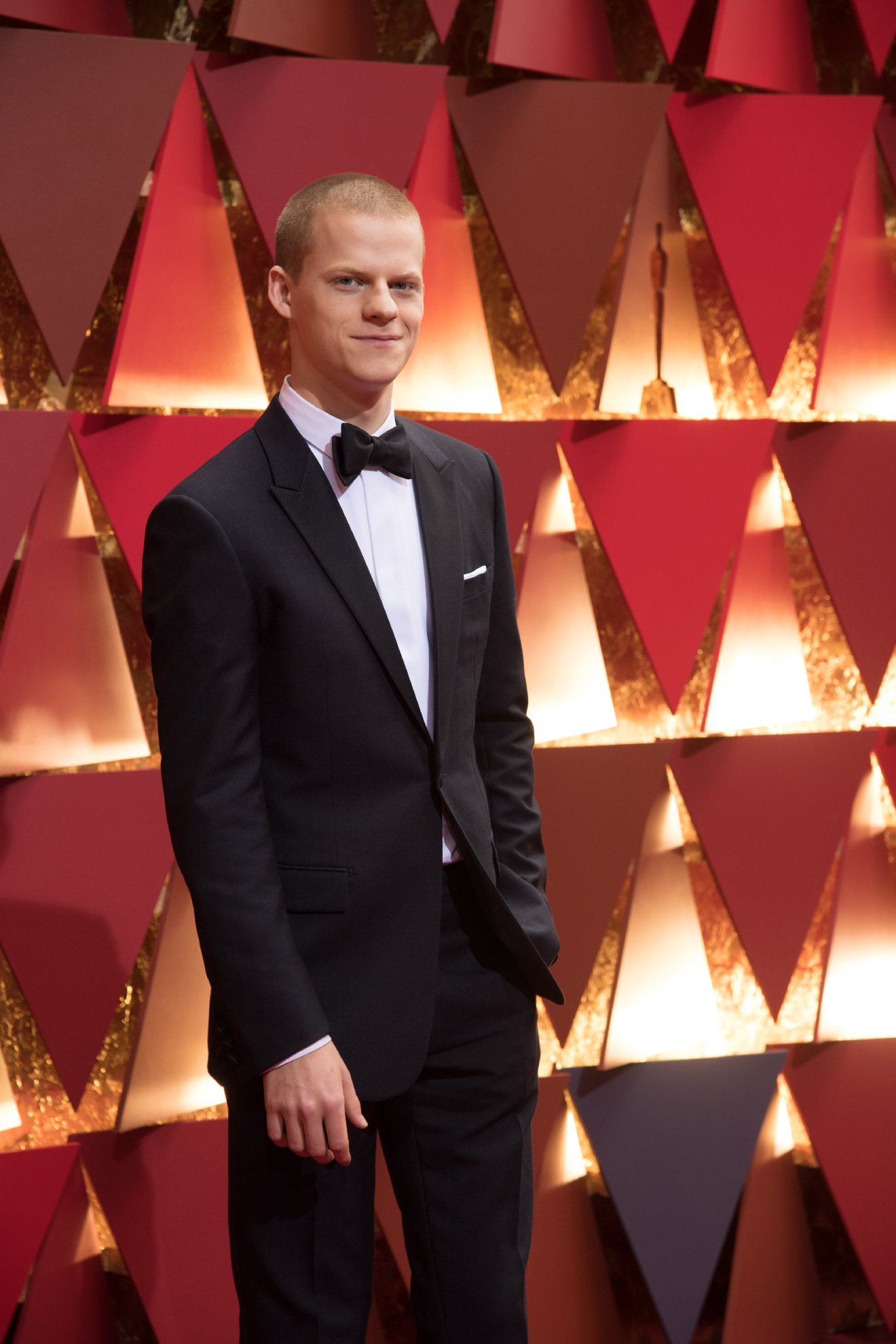 #12: Lucas Hedges. Lucas is in college right now, majoring in Acting. Yes seriously. Do you think his Best Supporting Actor nomination will give him extra credit? (Image: AMPAS)