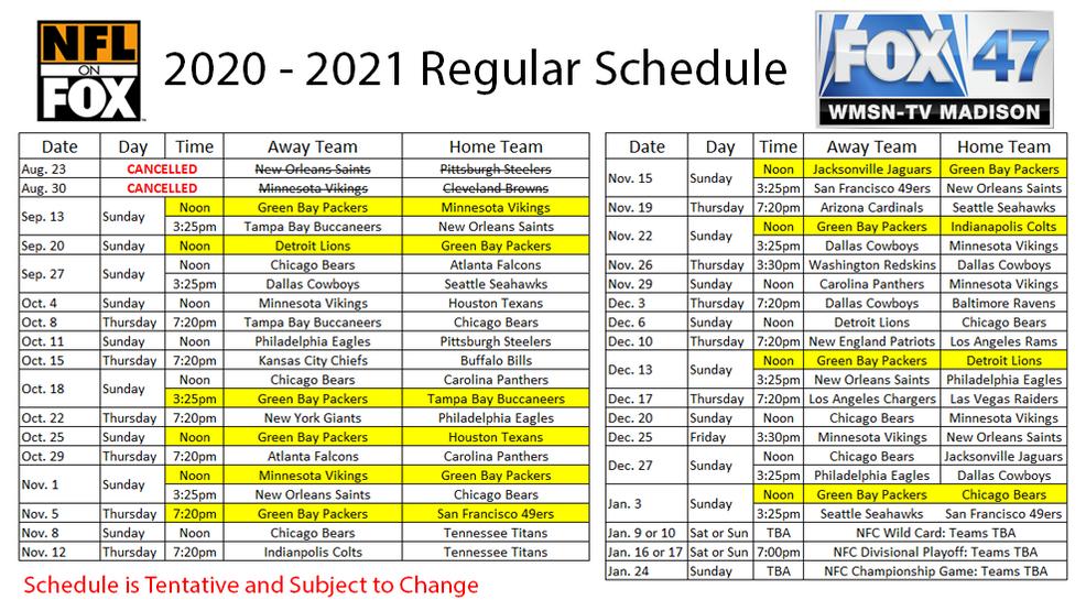 Fox 47 Nfl Televised Schedule Wmsn