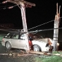 Police: Drunken driver uninjured after crash into power pole