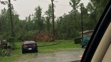 Roads blocked by downed trees in Newberry County