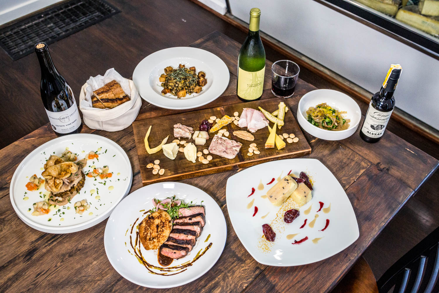 Rinds, Wines, and Swines is an O'Bryonville dining and retail spot that specializes in a variety of pork and cheese dishes along with wine and beer. Chef Eric Salome is a Texas transplant who encourages patrons to try something new from the rotating menu. The pork products and produce are sourced locally and they make items like their mayo, mustard, jams, and pickled veggies from scratch every week. The pigs are butchered in-house to ensure the freshest quality. ADDRESS: 1979 Madison Road (45208) / Image: Catherine Viox // Published: 10.16.19