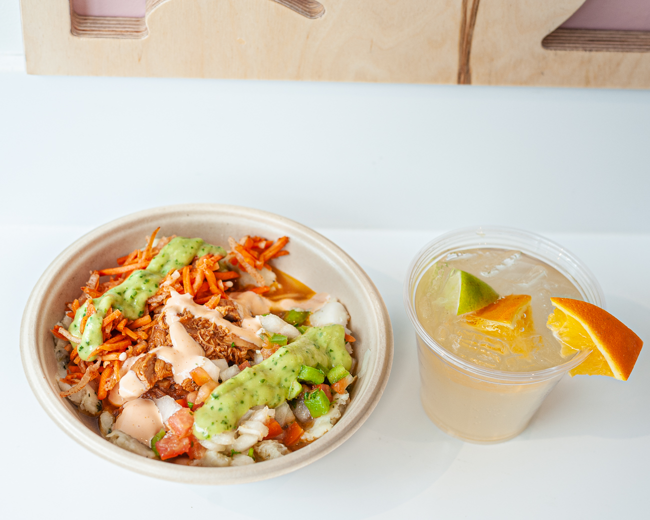 Pork Bowl paired with Caipirinha{ }/ Image: Kellie Coleman // Published: 3.6.21