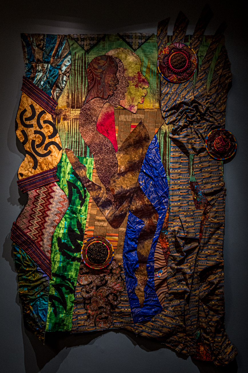 Guests enjoyed a sneak peek of the new exhibition called Journey to Freedom: Art Quilts by Cynthia Lockhart, who was present at the event to chat with people. / Image: Catherine Viox // Published: 12.13.19