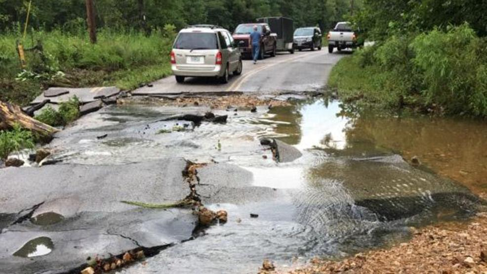 Camden County Roads Damaged By Heavy Rains Krcg