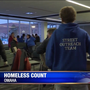 Volunteers head into cold to find homeless people in the metro