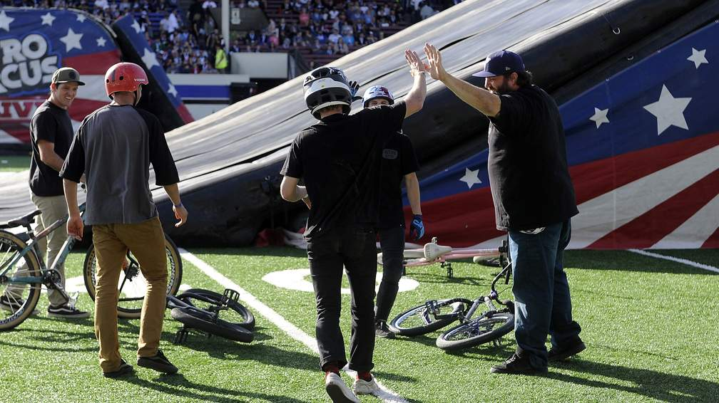 Nitro Circus extreme sports show stops in Medford Sunday 9-24-17 at Spiegelberg Stadium. - Andy Atkinson