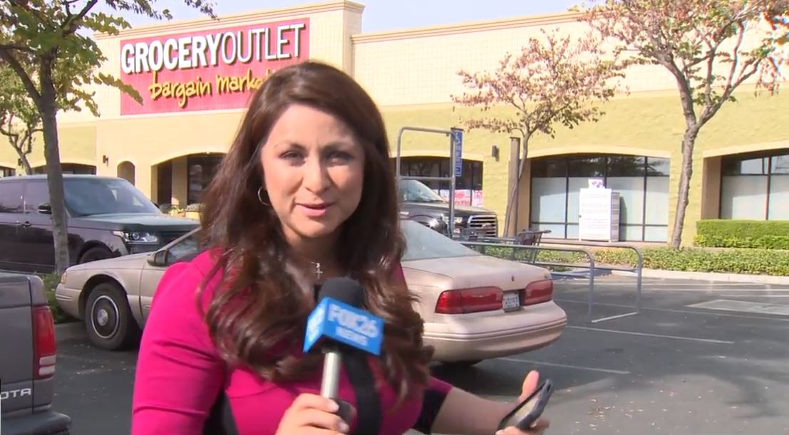 Liz outside the Grocery Outlet on W Shaw in Fresno<p></p>