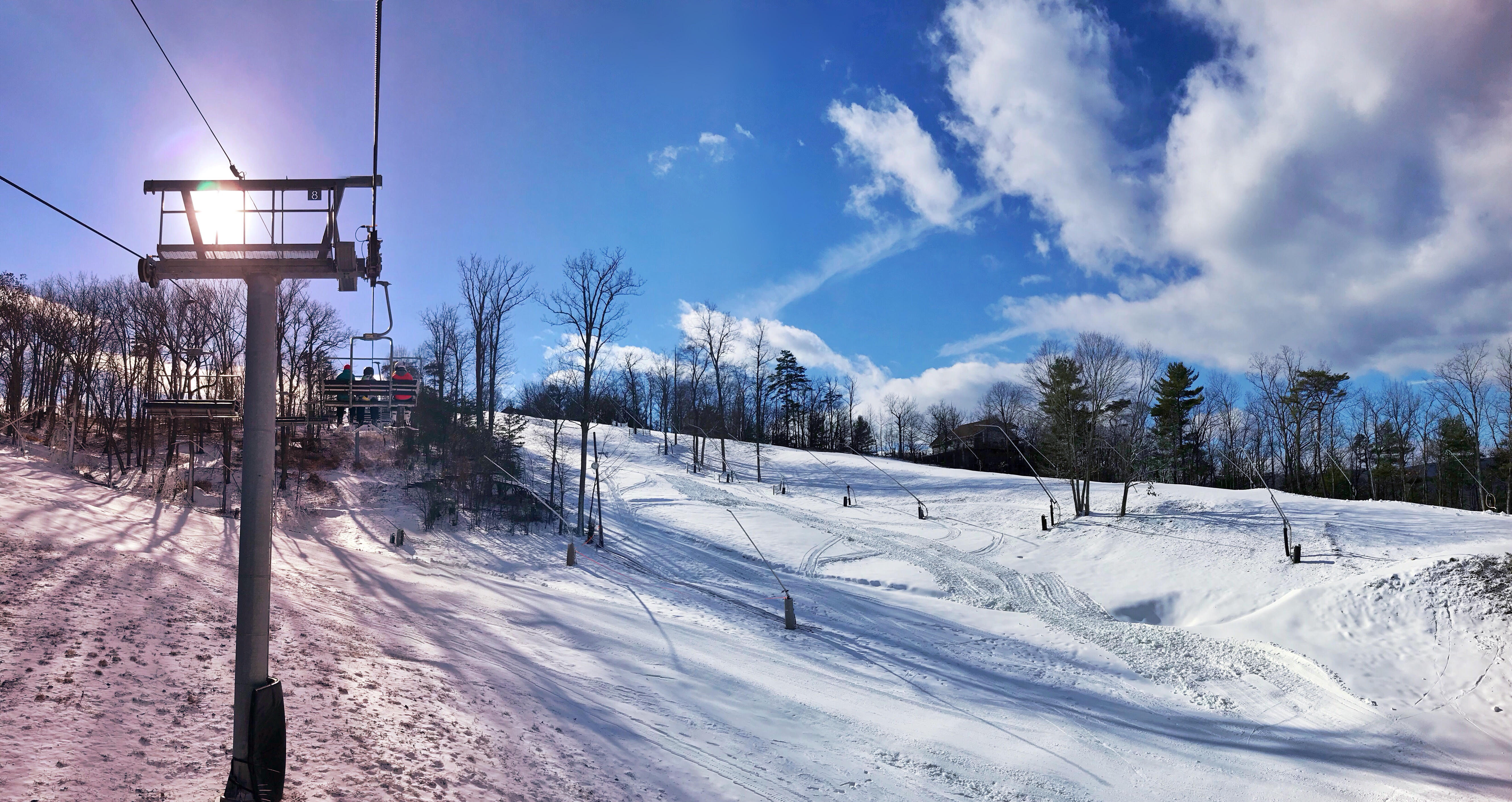 If you're looking for the perfect place to grab some grub and drinks in between your skiing adventures in Basye, VA, the Copper Kettle Bar &amp; Lounge is the place to be. With live music, picturesque views and a winning ambiance, you'll make the most of your ski adventure. (Image: Courtesy Bryce Resort)<p></p>