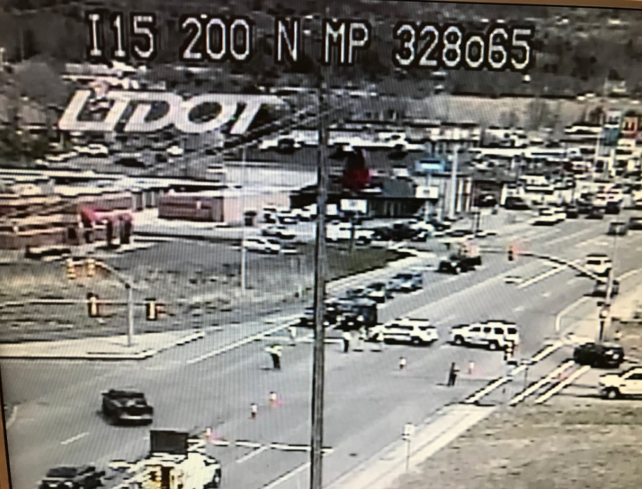 BREAKING NEWS: Officers reportedly down after incident at Kaysville, Utah gas station (Photo: UDOT Cam)