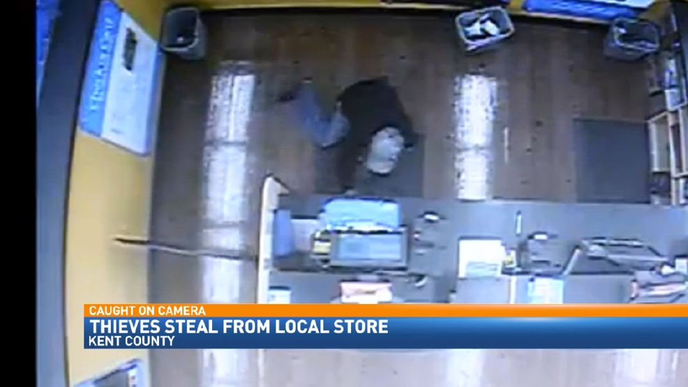 two thieves caught on video stealing cash from a walmart