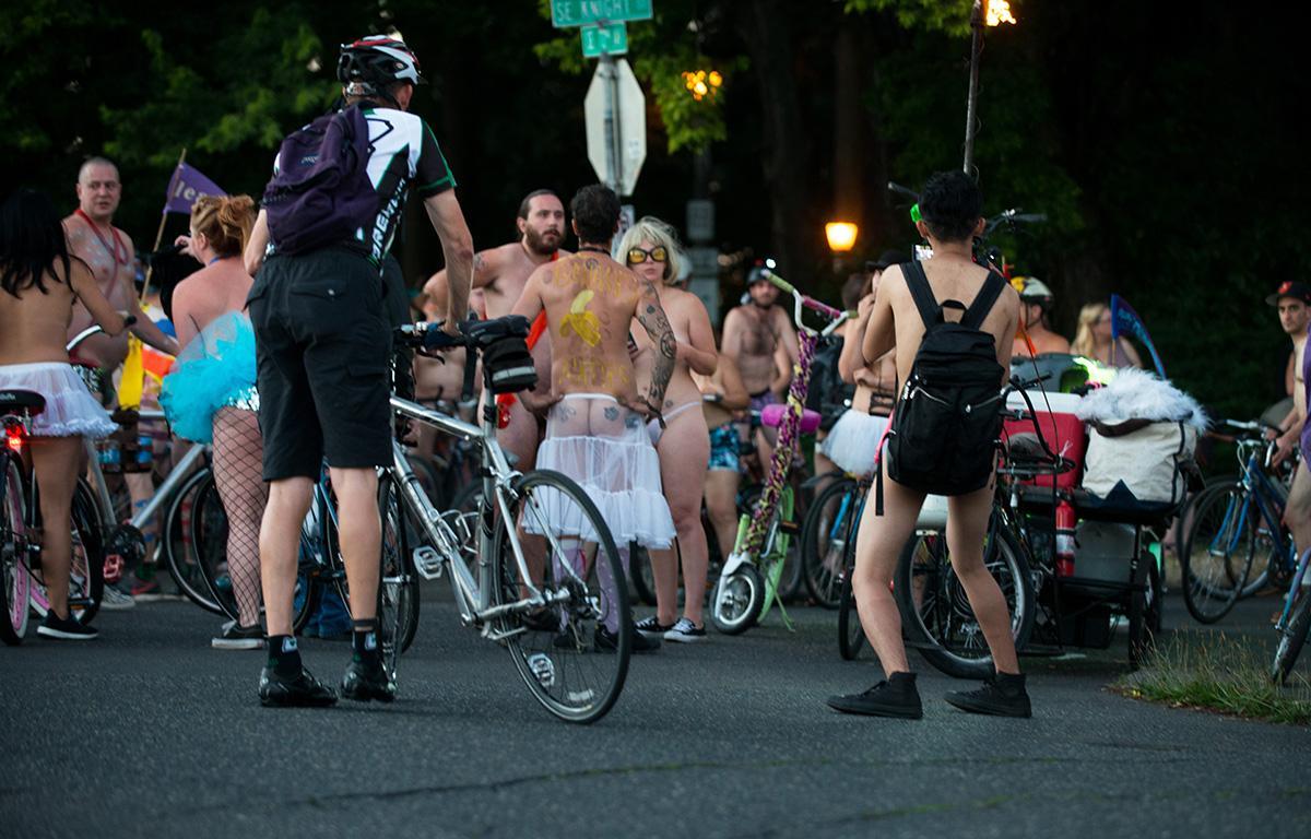 Portland Naked Bike Ride - Willamette