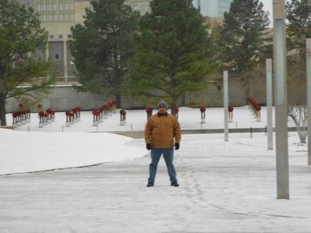 Snow at Oklahoma City National Memorial & Museum