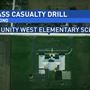 Mass casualty training held at Unity West Elementary