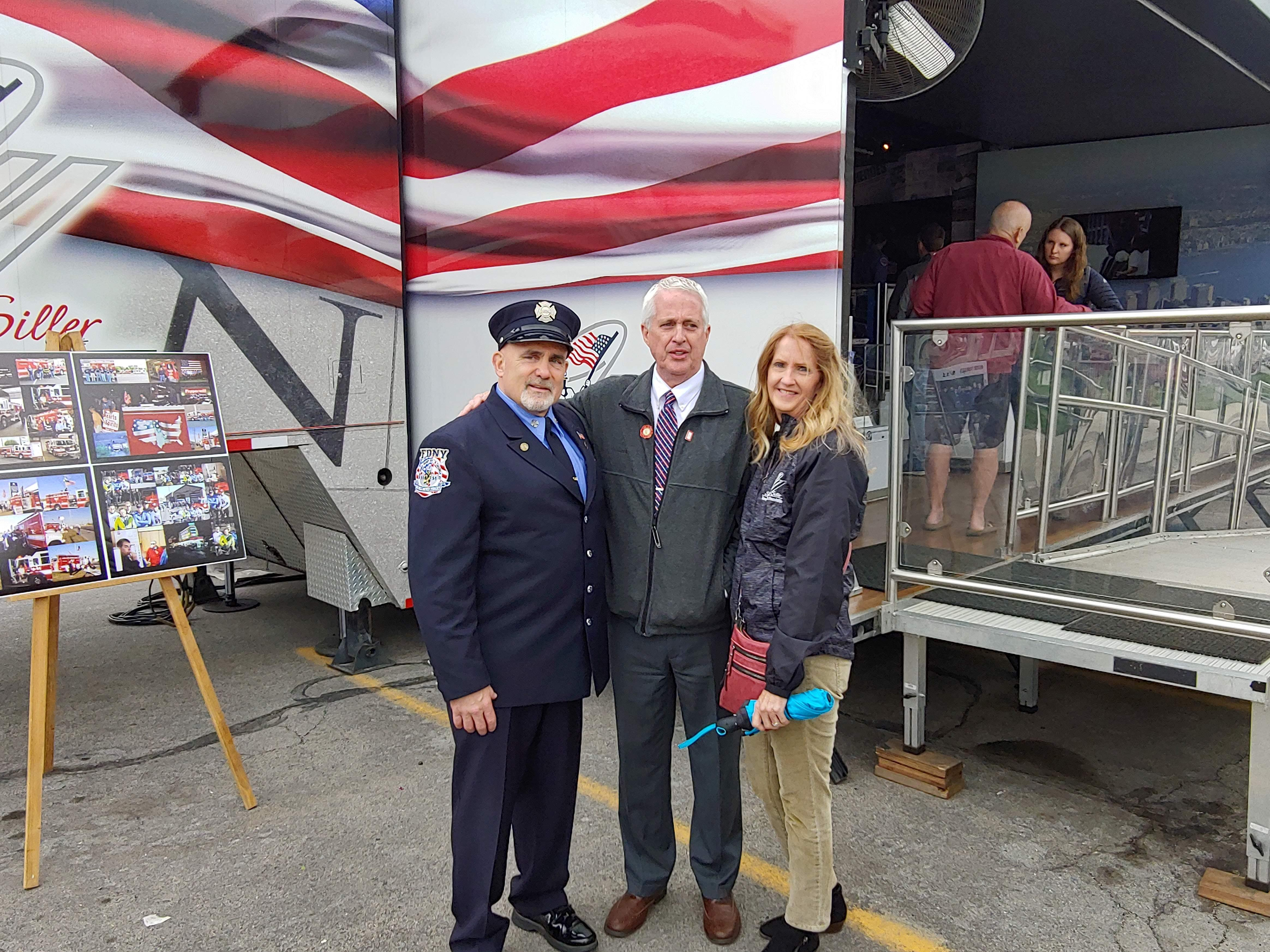 9/11 Never Forget traveling exhibit is in Utah for the first time. It's a mobile high-tech, 53-foot tractor-trailer that transforms into a 1,000 square foot exhibit. (Photo courtesy of Robin Pendergrast)