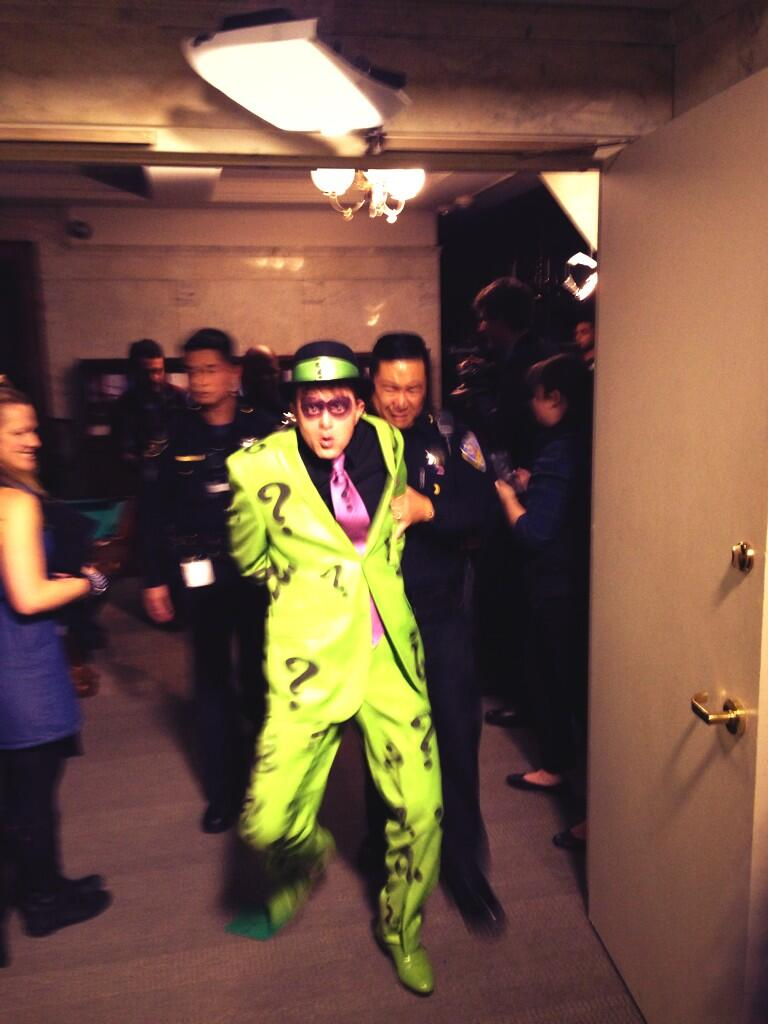 The Riddler is taken into custody after 'Batkid' called in reinforcements.