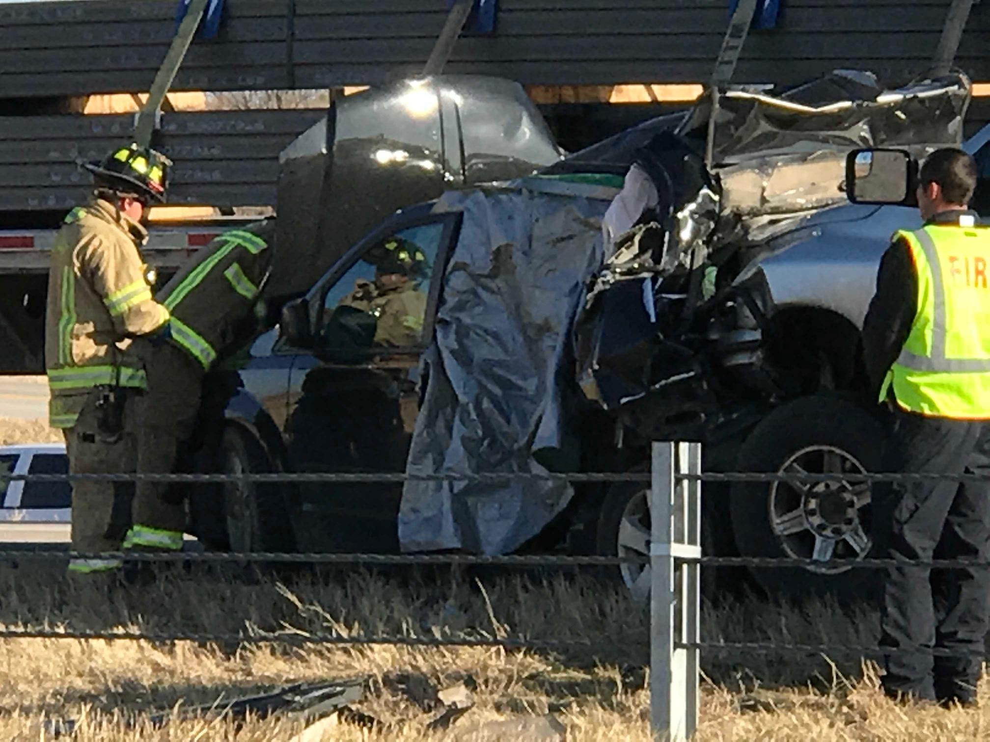 At least one person is dead after an accident involving four vehicles and an 18-wheeler on westbound I-20 in Abilene.<p></p>