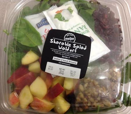 The Sharable Waldorf Salad was recalled by Meijer.