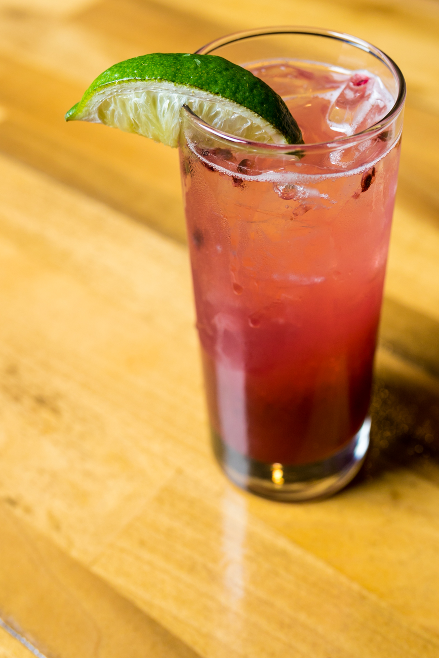 The Irish Rose: Bus Mills, lime sour, blueberries, and a splash of prosecco / Image: Amy Elisabeth Spasoff // Published:{ }4.29.19