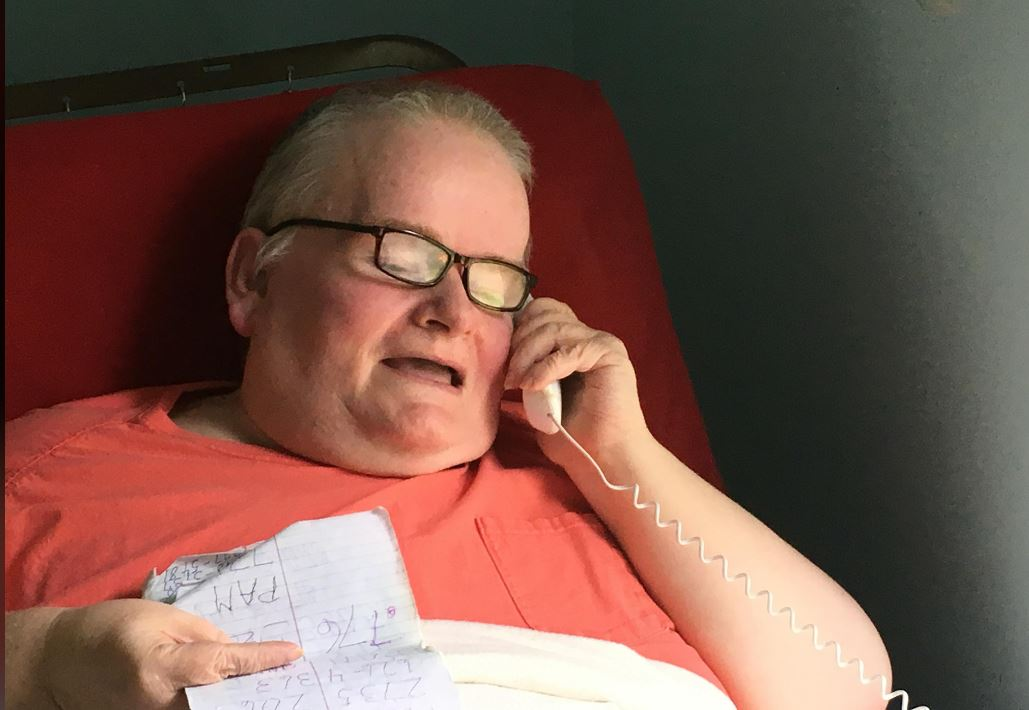 Our Person of the Week is a voice of joy, even when he's in the depths of sadness. Buddy Dillingham is the lifeline to hundreds in the Barnardsville community. (Photo credit: WLOS staff)