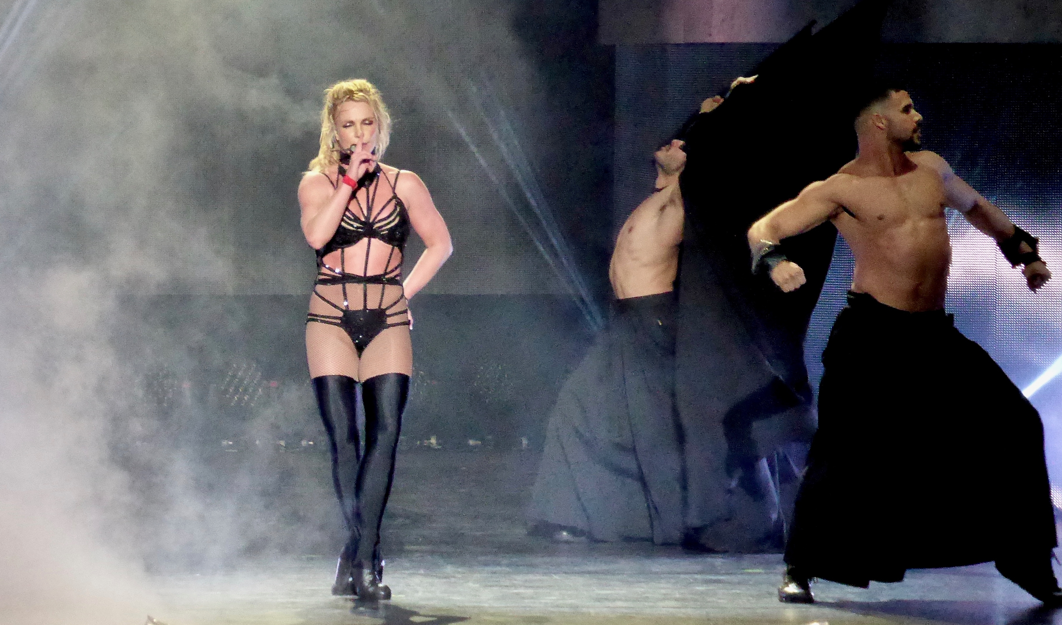 Britney Spears performs on her 'Piece Of Me' tour at Scarborough Open Air Theatre.Featuring: Britney SpearsWhere: Scarborough, United KingdomWhen: 18 Aug 2018Credit: WENN.com