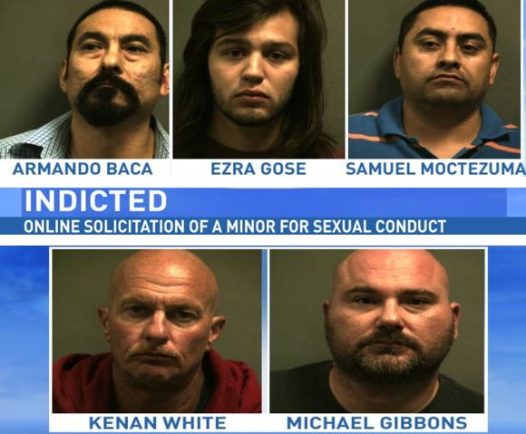 Five men indicted for online sex crime. (ABC 7 Amarillo)
